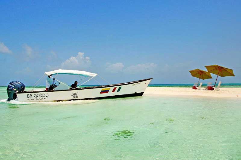 Los Roques private boat tours to islands